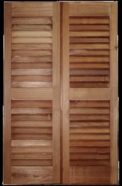 pair of wooden shutter panels