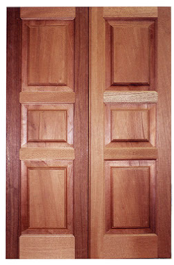 door with a rectangular design