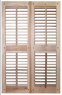 open window shutters