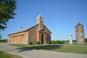 church in a spacious area