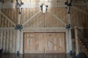 entryway made of wooden panels