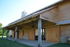 church made of wooden panels
