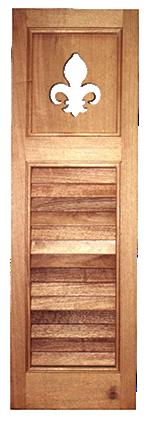 wooden window shutter with design