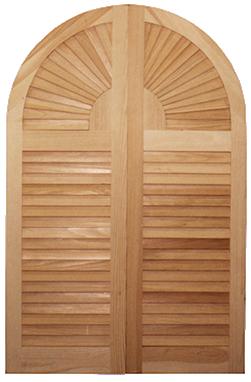 window shutters made of wood